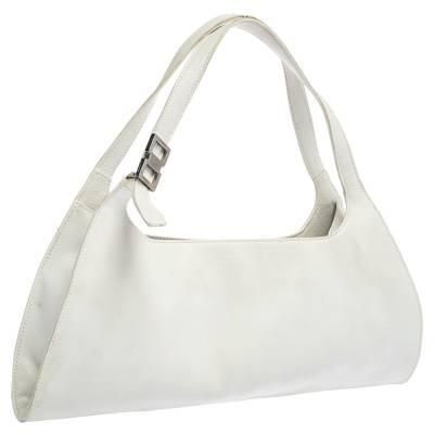 Gucci White Leather Shoulder Bag 293759 - 2