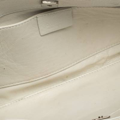 Gucci White Leather Shoulder Bag 293759 - 7