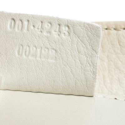 Gucci White Leather Shoulder Bag 293759 - 9
