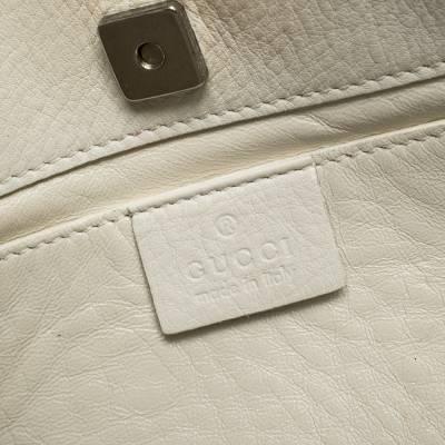Gucci White Leather Shoulder Bag 293759 - 10