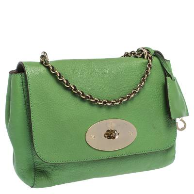 Mulberry Green Leather Small Lily Shoulder Bag 293753 - 2