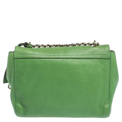 Mulberry Green Leather Small Lily Shoulder Bag 293753 - 3