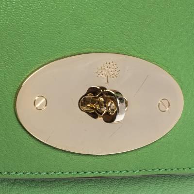 Mulberry Green Leather Small Lily Shoulder Bag 293753 - 4