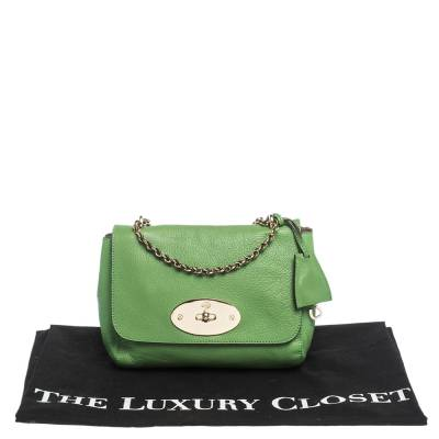 Mulberry Green Leather Small Lily Shoulder Bag 293753 - 9