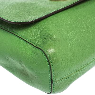 Mulberry Green Leather Small Lily Shoulder Bag 293753 - 10
