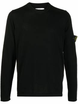 Stone Island logo patch jumper MO7215517B3