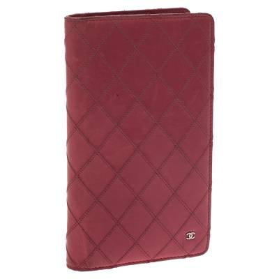 Chanel Punch Pink Quilted Leather Vertical Flap Wallet 294256 - 2