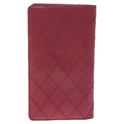 Chanel Punch Pink Quilted Leather Vertical Flap Wallet 294256 - 3