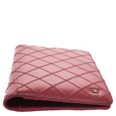 Chanel Punch Pink Quilted Leather Vertical Flap Wallet 294256 - 5