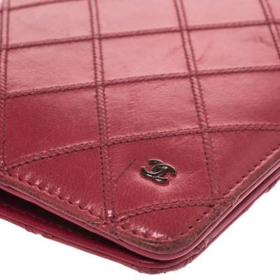Chanel Punch Pink Quilted Leather Vertical Flap Wallet 294256 - 9