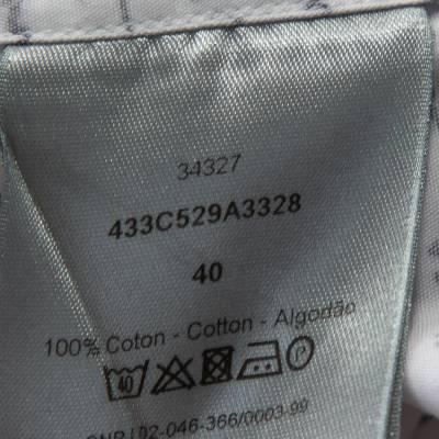 Dior Homme White Handwriting Print Cotton Long Sleeve Shirt M 294253 - 6
