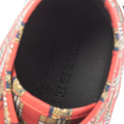 Burberry Red Canvas Kingly Print High Top Sneakers Size 45 294414 - 6