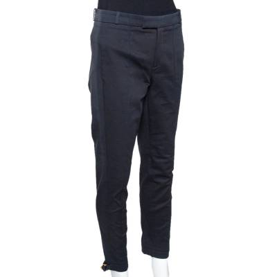 Gucci Black Cotton Tailored Trousers S 294639 - 1