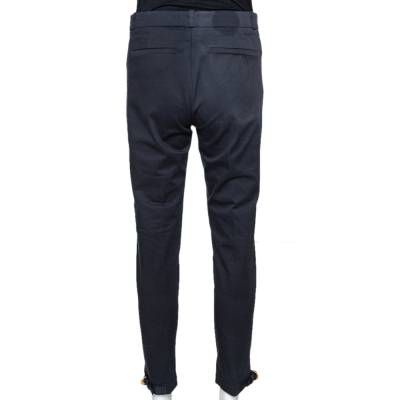 Gucci Black Cotton Tailored Trousers S 294639 - 2