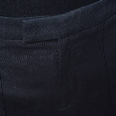 Gucci Black Cotton Tailored Trousers S 294639 - 3