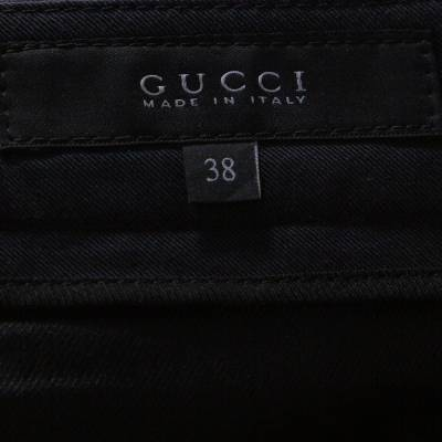 Gucci Black Cotton Tailored Trousers S 294639 - 5