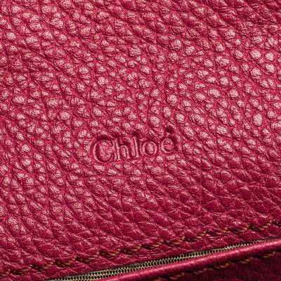 Chloe Magenta Leather Flap Continental Wallet 294746 - 6