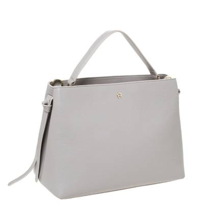 Aigner Grey Leather Top Handle Bag 292769 - 2
