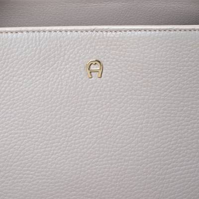 Aigner Grey Leather Top Handle Bag 292769 - 4