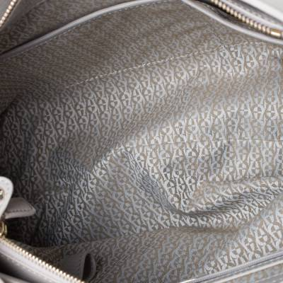 Aigner Grey Leather Top Handle Bag 292769 - 6