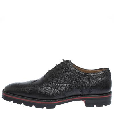 Christian Louboutin Black Brogue Leather Charlie Me Oxfords Size 43 294629 - 1