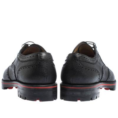 Christian Louboutin Black Brogue Leather Charlie Me Oxfords Size 43 294629 - 4