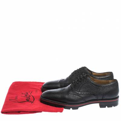 Christian Louboutin Black Brogue Leather Charlie Me Oxfords Size 43 294629 - 7