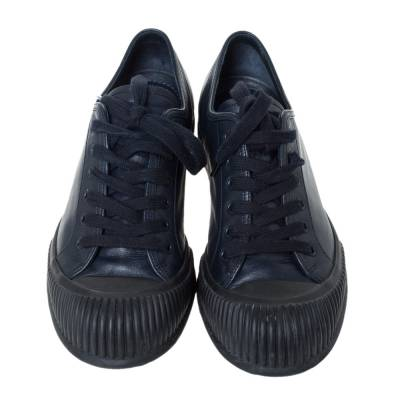 Prada Sport Black Leather Low Top Lace Up Sneakers Size 41.5 294471 - 2