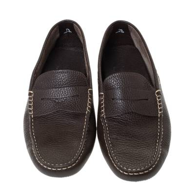 Tod's Dark Brown Leather Penny Driving Loafer Size 41.5 Tod's 294474 - 2