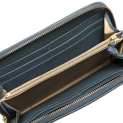 Bottega Veneta Blue Intrecciato Leather Zip Around Wallet 294751 - 1