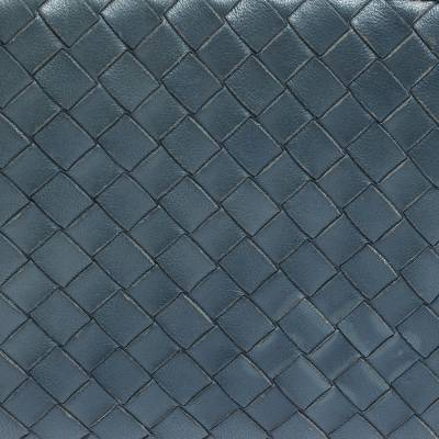 Bottega Veneta Blue Intrecciato Leather Zip Around Wallet 294751 - 4