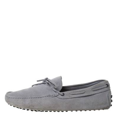 Tod's Grey Suede Bow Detail Driving Loafers Size 45 Tod's 293776 - 1