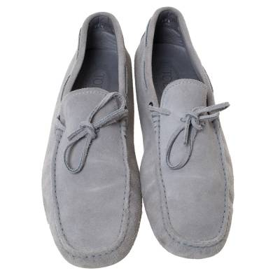 Tod's Grey Suede Bow Detail Driving Loafers Size 45 Tod's 293776 - 2