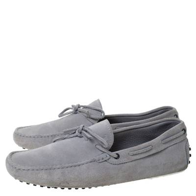 Tod's Grey Suede Bow Detail Driving Loafers Size 45 Tod's 293776 - 3