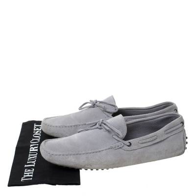 Tod's Grey Suede Bow Detail Driving Loafers Size 45 Tod's 293776 - 7