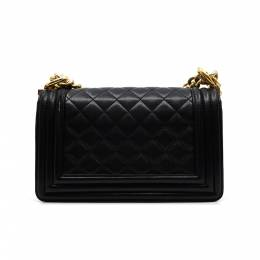 Chanel Black Quilted Leather Boy Bag 294455
