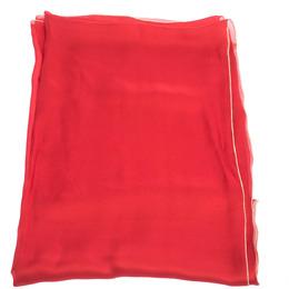 Roberto Cavalli Red & Gold Lurex Trim Silk Scarf 292753