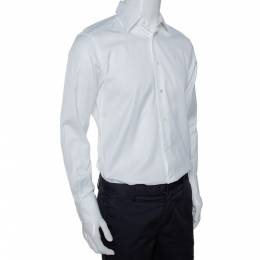 Ermenegildo Zegna Su Misura White Cotton Tailored Fit Shirt M 294162