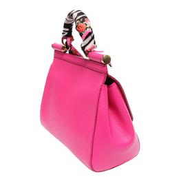Dolce&Gabbana Pink Leather Miss Sicily Bag 294381