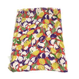 Roberto Cavalli Multicolor Abstract Floral Print Silk Scarf 292720