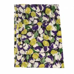 Roberto Cavalli Multicolor Abstract Floral Print Silk Scarf 292727
