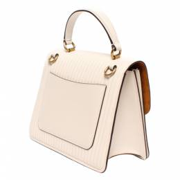 Coach White Quilted Leather Special Edition Parker Top Handle Bag 294379