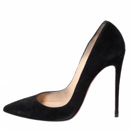 Christian Louboutin Black Suede So Kate Pointed Toe Pumps Size 39.5 294537