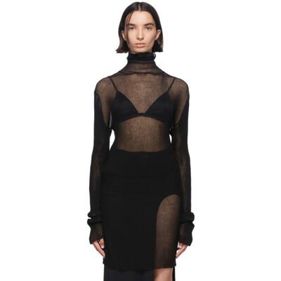 Ann Demeulemeester Black Knit Turtleneck 2001-4000-256-099 - 1