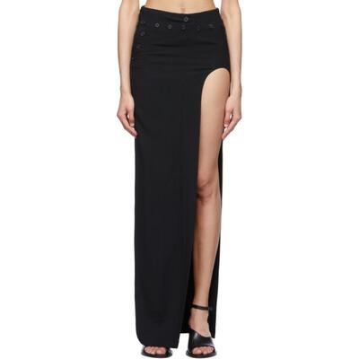 Ann Demeulemeester Black Open Leg Bethany Skirt 2001-1732-208-099 - 1
