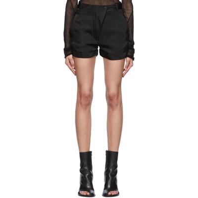 Ann Demeulemeester Black Moonrise Shorts 2001-1444-138-099 - 1