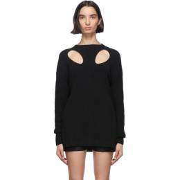 Ann Demeulemeester Black Cut-Out Hawke Crewneck Sweater 2001-2630-255-099