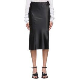 Ann Demeulemeester Black Silk Ribbon Skirt 2001-1730-108-099