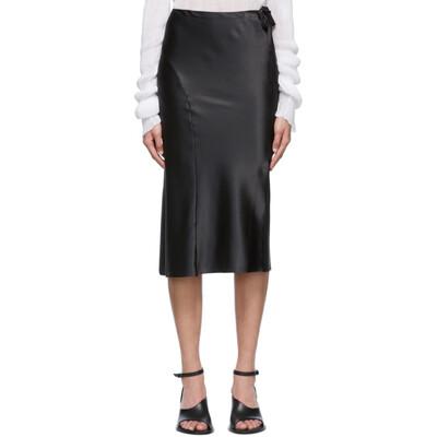 Ann Demeulemeester Black Silk Ribbon Skirt 2001-1730-108-099 - 1
