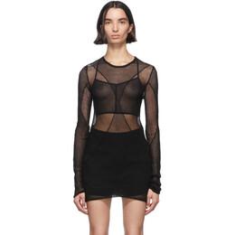 Ann Demeulemeester Black Sheer Foggy Knitted Sweater 2001-2622-256-099
